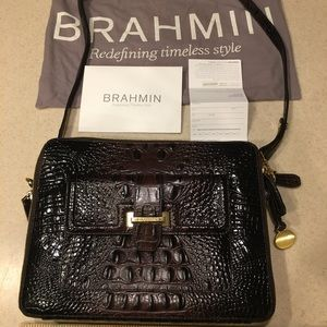 Brahmin alligator embossed crossbody purse